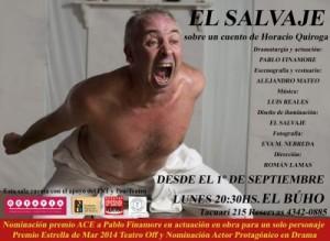 El Salvaje - Flyer2_Teatro El Búho